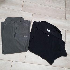 Set of 2 Columbia fleece half zip pullovers 2X  3X